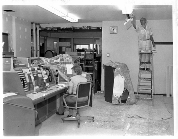 Police - Niagara Falls Police<br /> Remodeling of the Public Safety Building<br /> Photo - L.C. Williams 8/5/1980.