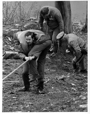 Niagara River - Rescues<br /> Gorge Rescue<br /> Photo - By Joes Ognibene - 12/14/1974.