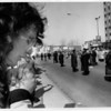 Organizations - Pro - Life.<br /> Marlene Wagner, City of Tonawanda, prays along the pro-life side High Street across from the General Medical Tower.<br /> Photo - By James Neiss - 4/23/1992.