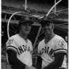 Sports - Baseball<br /> Rick Manning and Rocky Colovito.<br /> Photo - By Bill Wolcott - 7/12/1983.