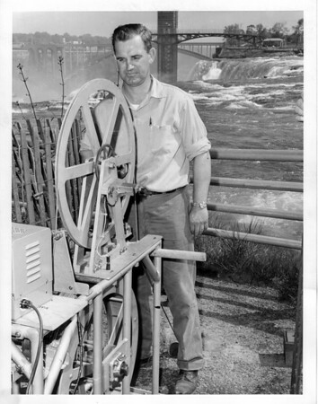 Niagara Falls - Remedial Work, 1966<br /> Photo - By Niagara Gazette