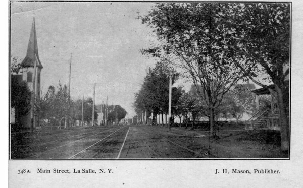 Streets - Main Street 1911<br /> 1911 in LaSalle looking east from 86th Street and buffalo Ave near Lane Funeral Home.<br /> Post Card 1911.