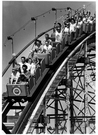 Roller Coasters - Comet<br /> The Comet at Chrystal Beach.<br /> Photo - By Ron Schifferle - 7/12/1984.