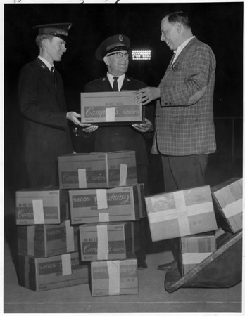Sports - Baseball<br /> Donation to the Salvation Army.<br /> Photo - By L. C. Williams - 8/28/1969.