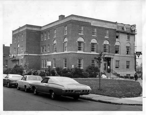 Buildings - Niagara Falls<br /> YWCA - Restoration work near completion.<br /> Photo - By L. C. Williams - 6/8/1972.