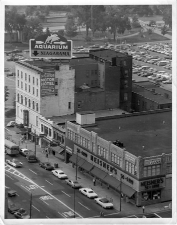 Urban Renewal<br /> Far right bottom corner main Street and Falls Street.<br /> Photo - By Niagara Gazette.