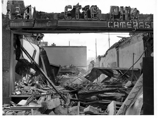 Buildings - Niagar Falls<br /> Rainbow Mall Demolition<br /> Photo - By Andrew J. Susty - 1/25/1982.