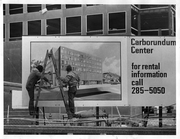 Industries - Carborundum Center<br /> Bank Comlex<br /> Photo - By Niagara Gazette - 12/17/1971.