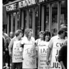 Hospitals - Degraff<br /> Degraff Rally<br /> Hundreds of concerned people from around the area rallied at North Tonawanda's Degraff Memorial Hospital in support of striking workers including (some) members (shown) from International Aerospace and Mahinists Union.<br /> Photo - By Lisa Massey - 9/16/1987.
