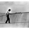 Niagara Falls, Stunter, Tight Rope Walker....  Arialist Philippe Pettit - 10/2/1986 Ron Schifferle photo