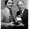 Organizations - Niagara Falls Boys Club.<br /> From left to right Carmen Granto and George Shahin.  44th Annual dinner for Niagara Falls Boy's Club Inc. Man and Boy award.<br /> Photo - By Andrew J. Susty - 6/22/1980.