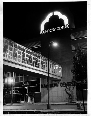Buildings - Niagara Falls<br /> Rainbow Centre<br /> Photo - By Andrew J. Susty - 9/30/1982.