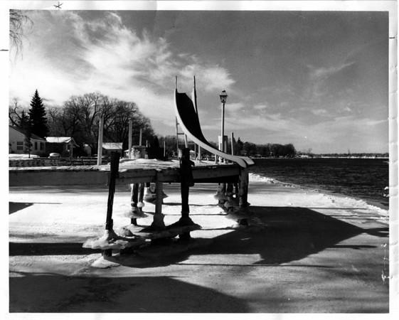 Grand Island - East Niagara River<br /> Photo - By John Kudla- 2/3/1979.