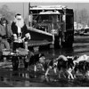 "Christmas - Summit Park Mall<br /> Santa comes to Summit Park Mall.<br /> Santa, Alias - Neil Huff of Grand Island, gets a dog sled ride from Alan Dodge, owner of ""Elizan Kennels"" in Wheatffield, N.Y.<br /> Phot - By James Neiss - 11/18/1989."