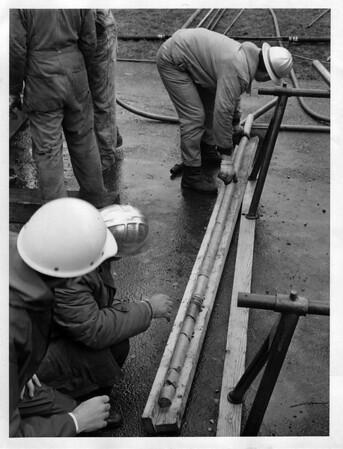 Niagara Falls - Remedial Work, 1966<br /> Photo - By Niagara Gazette - 4/9/1966.