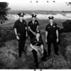 Niagara River - Rescues<br /> Heros<br /> From left to right : Patrolman - Russell DeFranco - NFPD, David Paonessa - Engine 3, Firefighter, Glenn Andrews - firefighter - truck 1, (FRONT) Gregory Colangelo - Firefighter - engine 3.<br /> Rescuers pose for photo on 3 Sisters Island.<br /> Phtoo - By James Neiss - 7/28/1988.