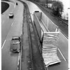 "Accidents - Auto<br /> ""Topless"" Southbound tractor trailer on Robert Moses Pkwy. at North Grand Island Bridge.<br /> Photo - By L. Massey - 4/24/1987."