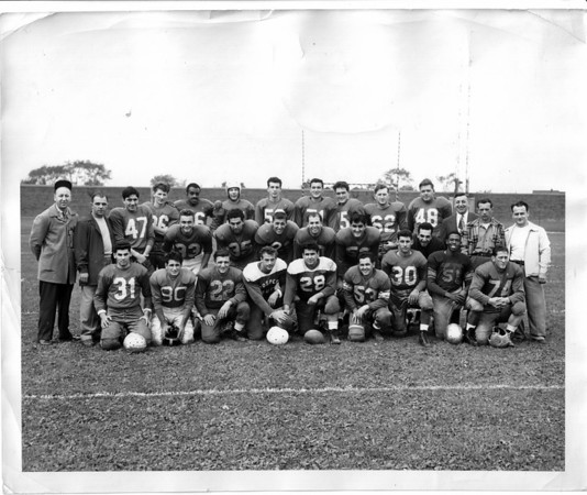 Sports - Football<br /> Niagara Falls Athletics WNY Semi - Pro League 1952.<br /> Photo - By Niagara Gazette - 1952.