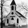 Churches - St. John's Lutheran<br /> St. John's Lutheran Church in Youngstown.<br /> Photo - By Niagara Gazette - 2/15/1965.