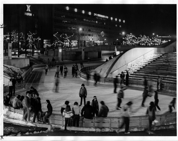 Christmas - Festival of Lights <br /> Convention Center Plaza<br /> Photo - By John Kudla - 12/15/1981.