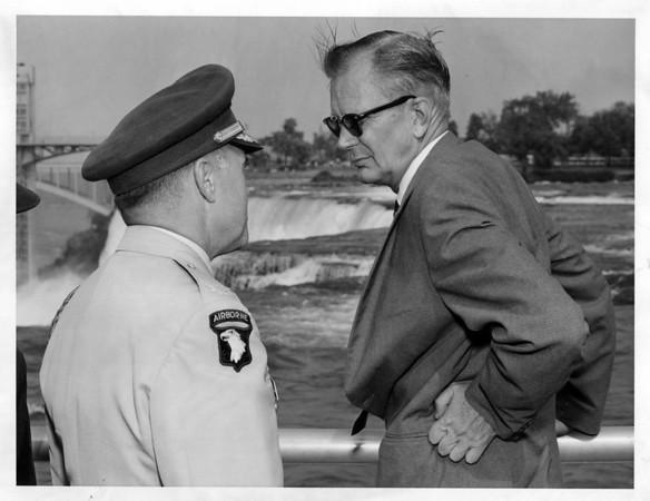 Niagara Falls - Remedial Work<br /> NEFF, Johnson 1966.<br /> Photo - By Niagara Gazette - 9/20/1966.