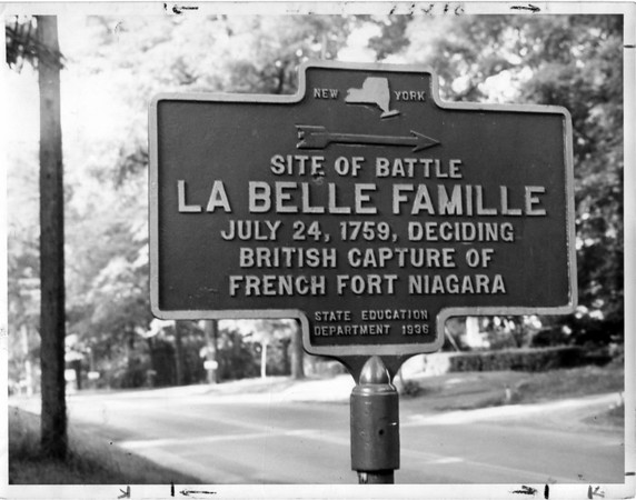 Historical Site Markers<br /> Site of battle.<br /> Photo - By Niagara Gazette.