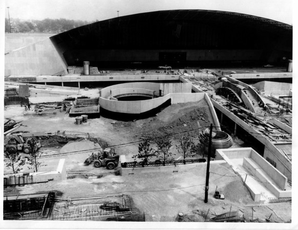 Convention center - Construction<br /> Construction outside the convention Center.<br /> Photo - By Martin Algian - 7/8/1975.