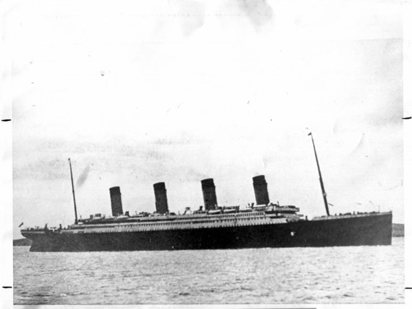 Boats - The Titanic<br /> The Titanic South Hampton 4/10/1912.<br /> Photo - By Jerry Lasher - 4/10/1975.