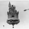 Entertainment - Walt Disney<br /> Walt Disney World celebrates 20 years. Flying a hot Air Balloon of the Disney Castle over 13 cities Niagara Falls was one of them. The Balloon landed on the Hyde Park Golf Course.<br /> Photo - By Niagara Gazette - 10/27/1991.