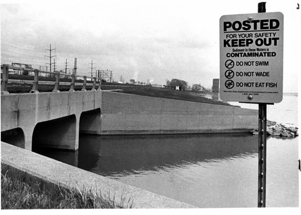 Toxic Waste - Niagara Falls<br /> Gill Creek at the Niagara River.<br /> Photo - By Ron Schifferle - 4/29/1988.