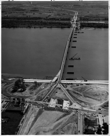 Bridges - Grand Island<br /> Grand Island Bridge.<br /> Photo - By Power Authority of the State of New York.<br /> June 15,1963.