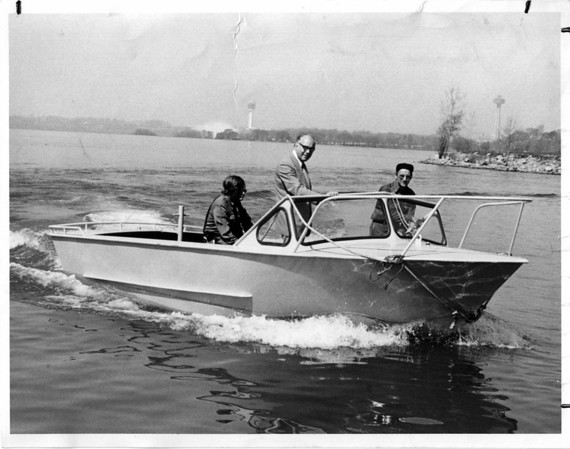 Niagara River Rescue Boat - Trying it out May 9, 1975.