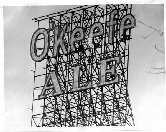 Billboards - O'Keefe<br /> O'keefe Ale<br /> Photo - By Johm Kudla - 12/4/1975.