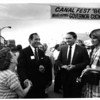 Canal - Canal Festival<br /> North Tonawanda Canal Festival.<br /> Governor Cuomo shakes hands with a lady at the 1986 Canal Fest.<br /> Photo - By James P. McCoy - 7/22/1986.