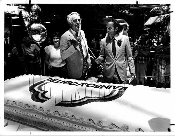 Buildings - Niagara Falls<br /> Rainbow Centre<br /> Mayor and Developer David S. Cordish.<br /> Photo - By Joe eberle - 7/6/1984.