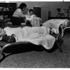Hospitals - Mt. St. Mary's Day Care<br /> Naptime at Mt. St. Mary's Day Care Center.<br /> Front - Halley Andres 2 years old of Lewiston.<br /> Back - Becky Coleman - teacher, from Niagara Falls, Joseph Piccerillo 2 years old of Niagara Falls, and Jennifer Caldwell 1 1/2 years old of Lewiston.<br /> Photo - By James Neiss - 10/12/1988.