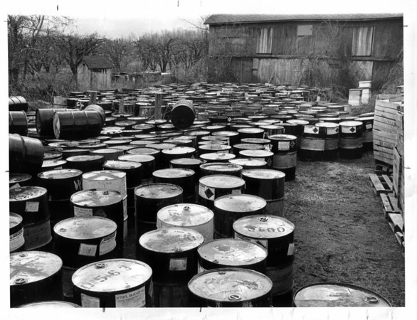 Toxic Waste - Newfane<br /> Kappus Farm - Newfane.<br /> Photo - By L. C. Williams - 3/2/1981.