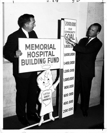 Hospitals - Niagara Falls<br /> Trying to raise funds for the new hospital building.<br /> Niagara Falls Memorial Medical Center.<br /> Photo - By Zelones Studio - 8/9/1967.