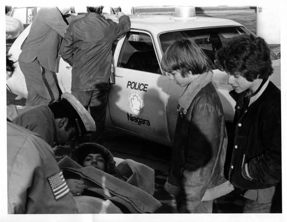 Niagara River - Rescues<br /> Gorge Rescue<br /> Photo - By Joe Ognibene - 12/14/1974.