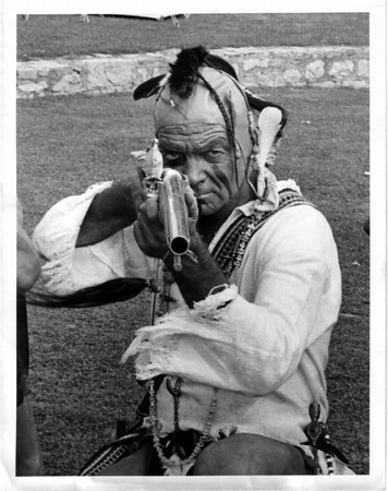 Old Fort Niagara - Iroquois warrior<br /> James Pastorius - of Pittsburg.<br /> Photo - By Andrew J. Susty - 8/29/1981.