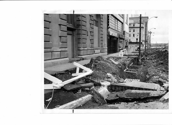 Urban Renewal<br /> Falls Street<br /> Photo - By L. C. Williams - 11/22/1975.