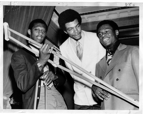 Sports - AllAmerica<br /> Box Lamier, Randy Smith, and Calvin Murphy.<br /> Photo - Niagara Gazette.