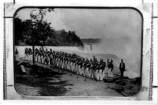 Niagara Falls, Armed Forces Artillery Corps of Philidelphia Greys June 11, 1856.
