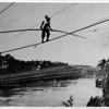 Niagara Falls, Stunters, Blondin carrying Colcord summer 1859