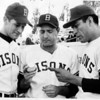 Sports - Baseball<br /> Buffalo Bisons<br /> From left to right - Darrell Bleen, Sibbi Sisti, and Jose Pena. Sibbi Sisti was the third base coach in the natural.<br /> Photo - By L. C. Williams - 8/26/1967.