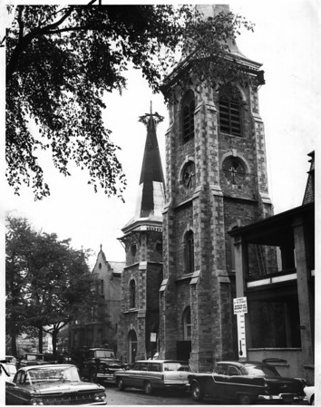 Churches - St Mary's of the Cataract.<br /> St. Mary's of the Cataract Church.<br /> Photo - By Niagara Gazette - 9/25/1962.