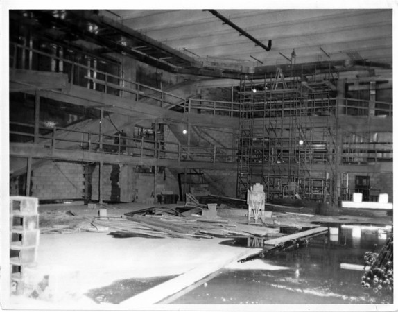 Convention Center - Under Construction<br /> Ongoing Construction at the Niagara Falls Convention and Civic Center.<br /> Photo - By John Kudla - 4/5/1973.