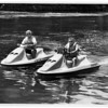 Police - On patrol in the Niagara River on new jet skis.<br /> From left to right Marine Deputy Angelo L. Zino, Marine Patrol Deputy Charles R. Slack, Niagara county Sheriffs Department - They can patrol shallow waters.<br /> Photo by Ron Schifferle - 6/25/1991.