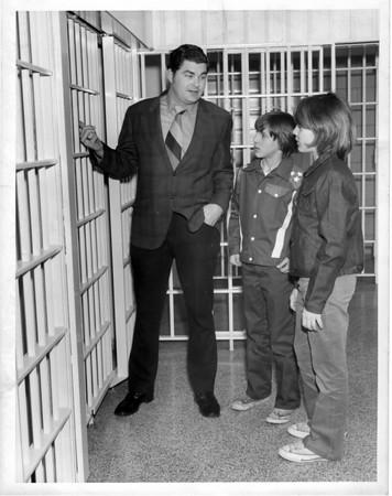 Prisons - Niagara County Jail<br /> Deputy Wayne Jagow.<br /> Phot - By Niagara Gazette - 3/30/1972.