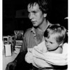 Niagara River - rescues<br /> Fireman - Erik Kallip and baby Stephanie Fedora of Mississauga.<br /> Photo - By Niagara Gazette.